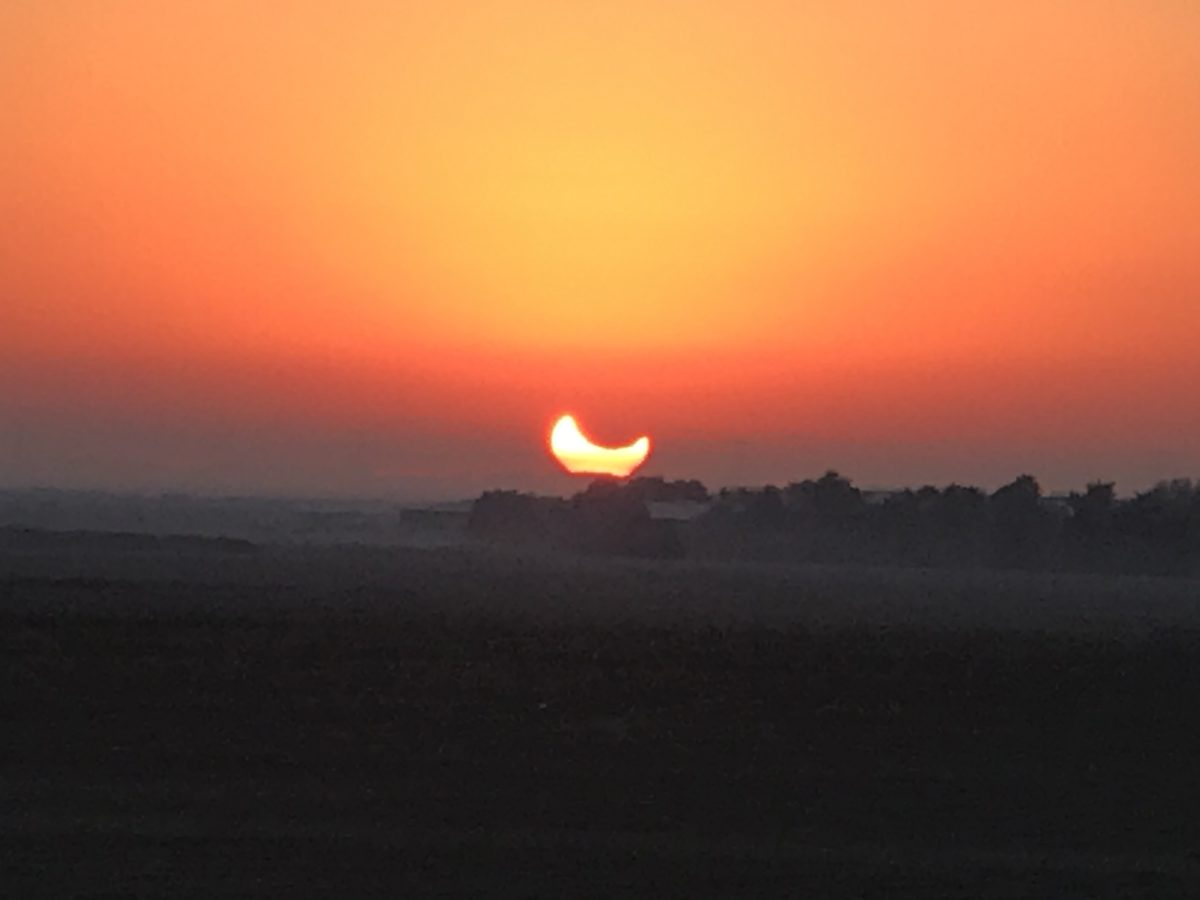 The Solar Eclipse in Abu Dhabi
