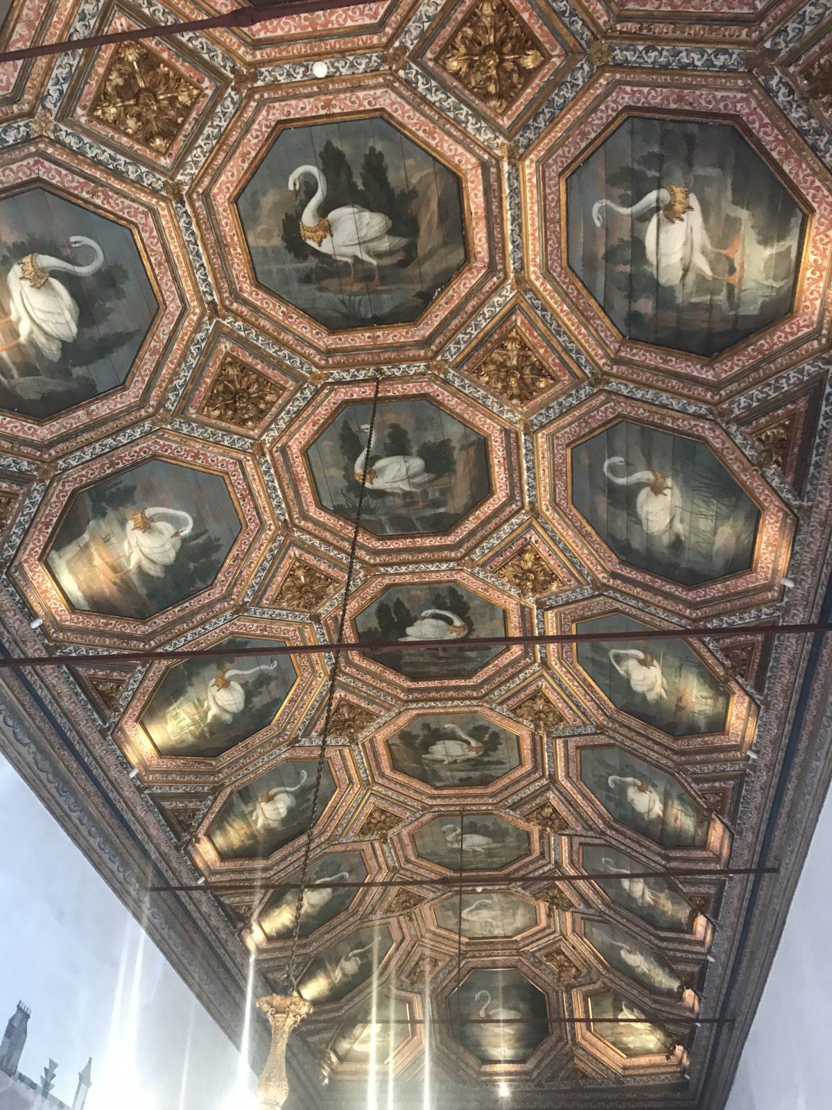Ceiling with the Cigne colleté